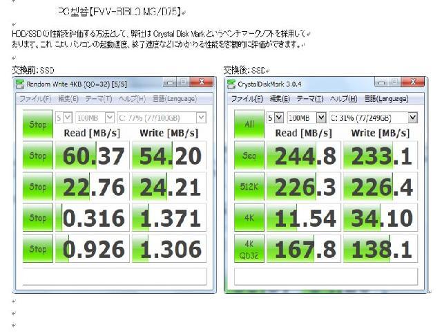 FUJITSUFMVMGD75PのSSD交換の写真77