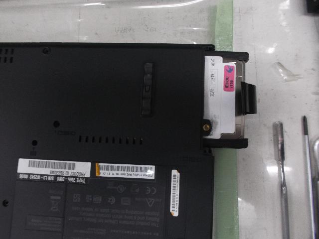 IBMThinkPad T61の修理の写真0