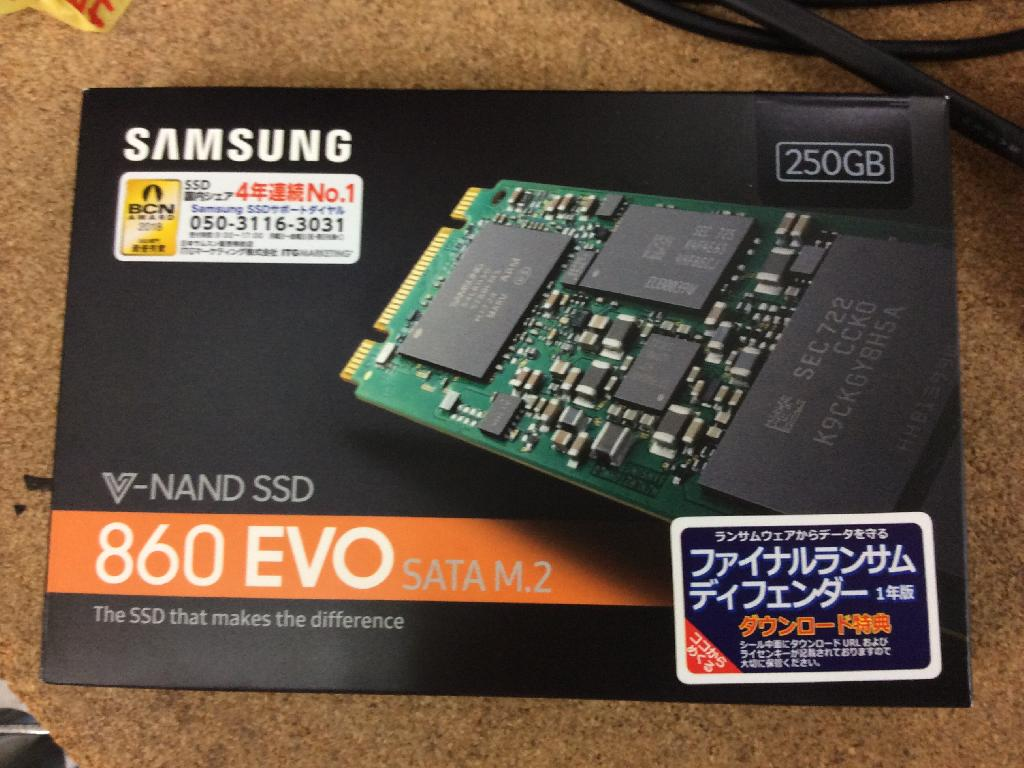PANASONICCF-N9KYLADPのSSD交換の写真0