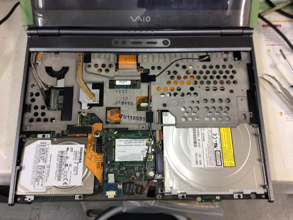 SONYVGNSZ93Sの修理の写真0