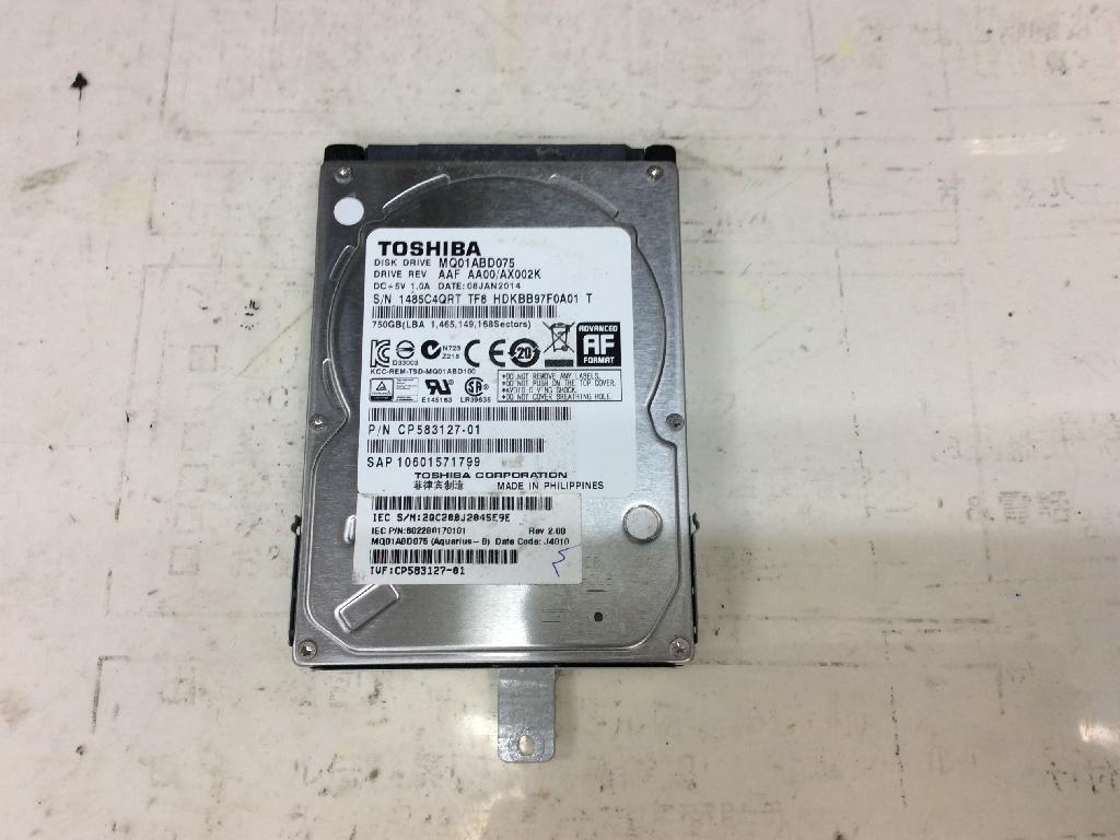 FUJITSULIFEBOOK AH53/MのHDD交換の写真0