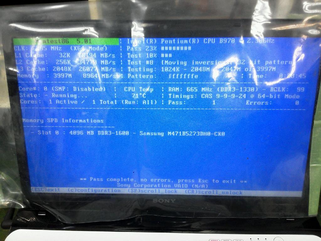 SVE1511FJWの修理の写真0