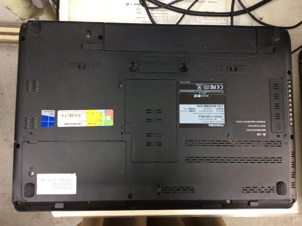 TOSHIBAPB552HFD125A71のSSD交換の写真0