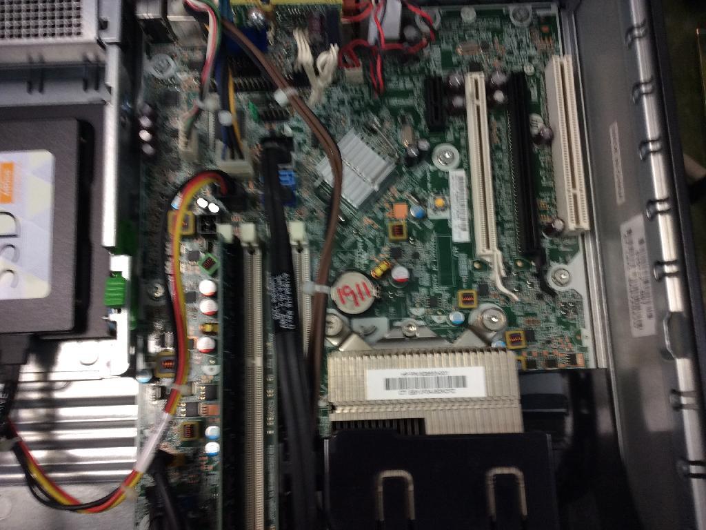 HPCompaq 8200のSSD交換の写真