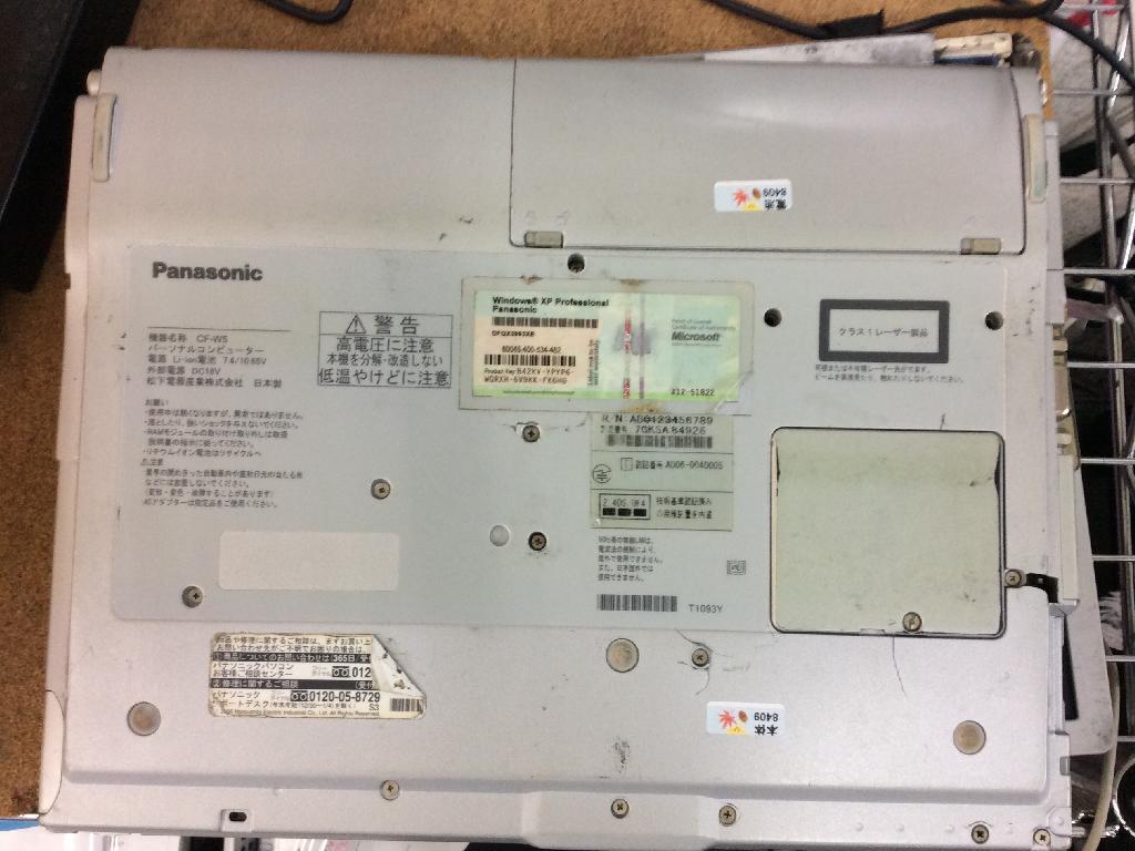 PANASONICCF-W5AWDAXSのデータ救出の写真0