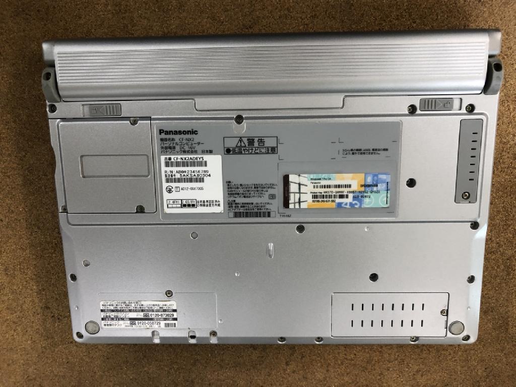 パナソニックCF-NX2/4AKSA63654のPC販売の写真
