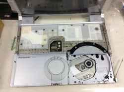 PANASONICcf-y9jwqapsのSSD交換の写真