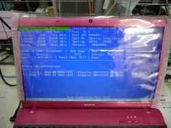 SONYVPCEB48FJのHDD交換の写真