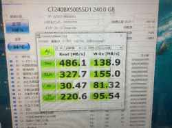TOSHIBAdynabokk T75/TG PT75TGPのSSD交換の写真