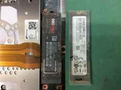 PANASONICCF-SV1GDUQRのSSD交換の写真